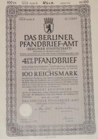 Pfandbrief 100Reichsmark 1940 Berlin