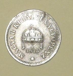 10 fillér 1915 nyomott