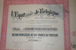 L'Equitable de Belgique 1920