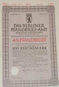 Das Berliner Pfandbrief 100 Reichsmark 1942