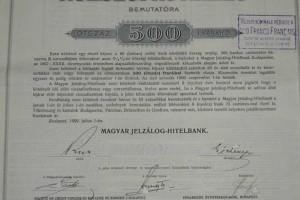 Magyar Jelzálog-Hitelbank 500 Frank 1899