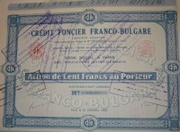 Credit Fontier Franco-Bulgare Action 1930