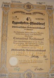 Hypotheken Pfandbrief 1000 Reichsmark 1941