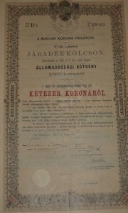 Járadékkölcsön Államadóssági Kötvény 1903