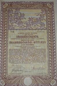 Járadékkölcsön 1917 10000 korona