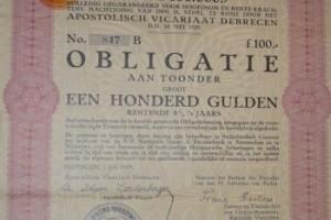 Obligatie 100 Gulden 1929