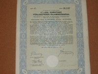 Akció Magyar Királyság 3 %-kal kamatozó államadóssági kötvény 1942