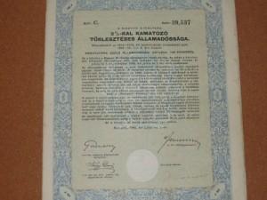 Magyar Királyság 3 %-kal kamatozó államadóssági kötvény 1942