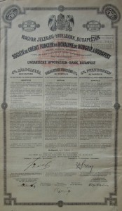 Magyar Jelzálog Hitelbank Záloglevél 1911