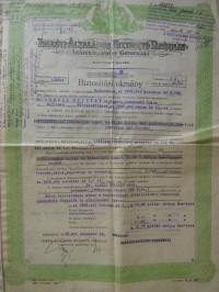 Triesti Általános Biztosító Generali kötvény 1925