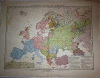 Európa népei és nyelvei Régi  térkép 1913