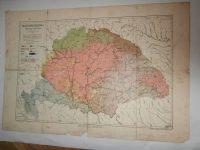 Magyarország néprajzi térkép 1900 Cholnoky régi