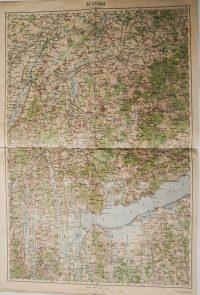 Pápa Balaton régi térkép 1918