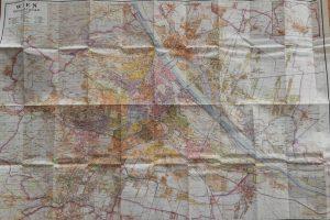 Régi Bécs térkép Plane Von Wien map