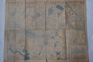 Régi Budapest térkép 1940 es évek
