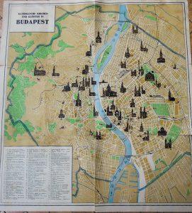 Régi Budapest térkép 2 oldalas német