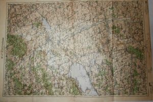 Székesfehérvár Balaton régi térkép 1934