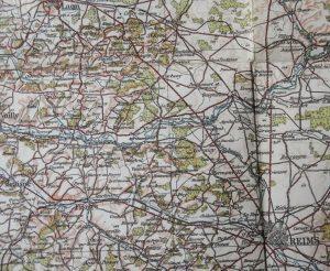 Franciaország Laon Reims  1912 régi térkép