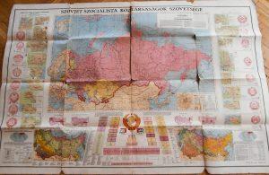Szovjet Szocialista Országok Szövetsége régi térkép 1951