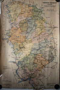 Torontál Vármegye régi térkép