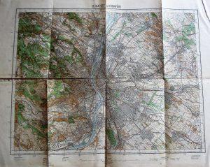 Budapest és környéke régi térkép