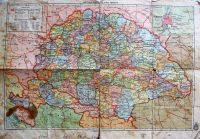 Magyarország régi térkép 2 oldalas