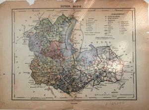 Sopron Megye régi térkép 1920-40