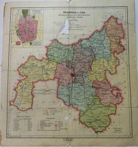 Szabolcs és Ung Vármegye 1928 régi térkép