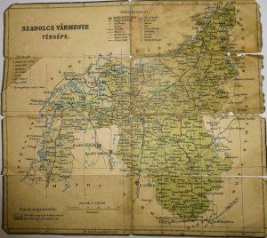 Szabolcs Vármegye régi térkép