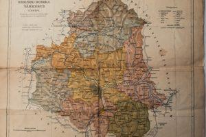 Szolnok-Dobóka Vármegye térkép 1910-es évek