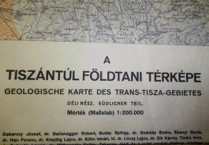Tiszántúl Földtani Térkép 1941