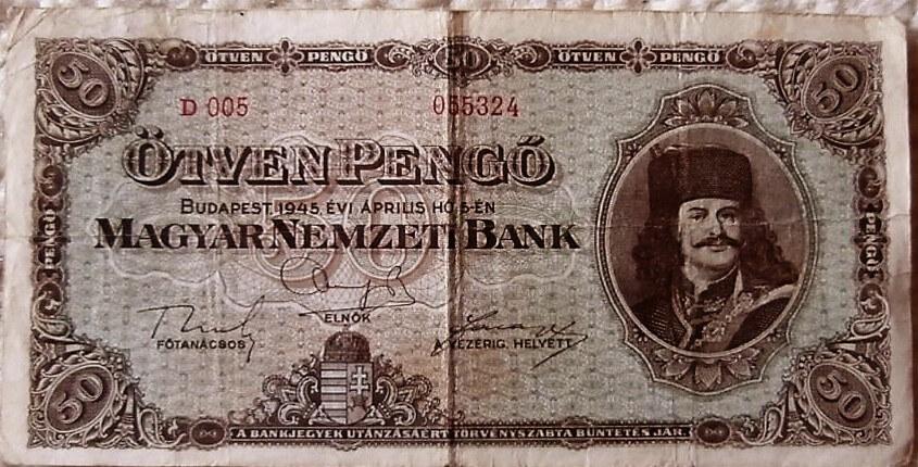 50 Pengő 1945 régi pénz numizmatika