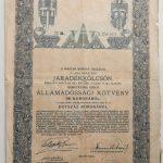 Járadékkölcsön Kötvény 1914 akció