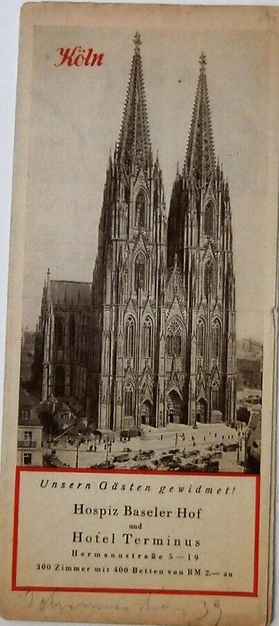 Köln Németország térkép 1931