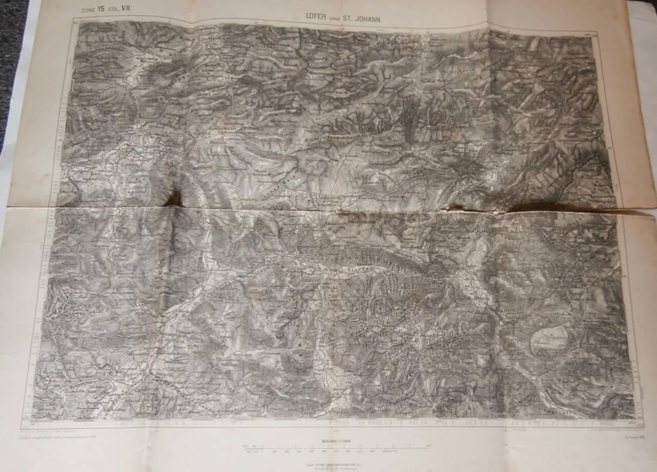 Lofer und St. Johann Ausztria térkép 1890