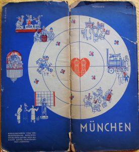 München térkép és útikalauz 1933