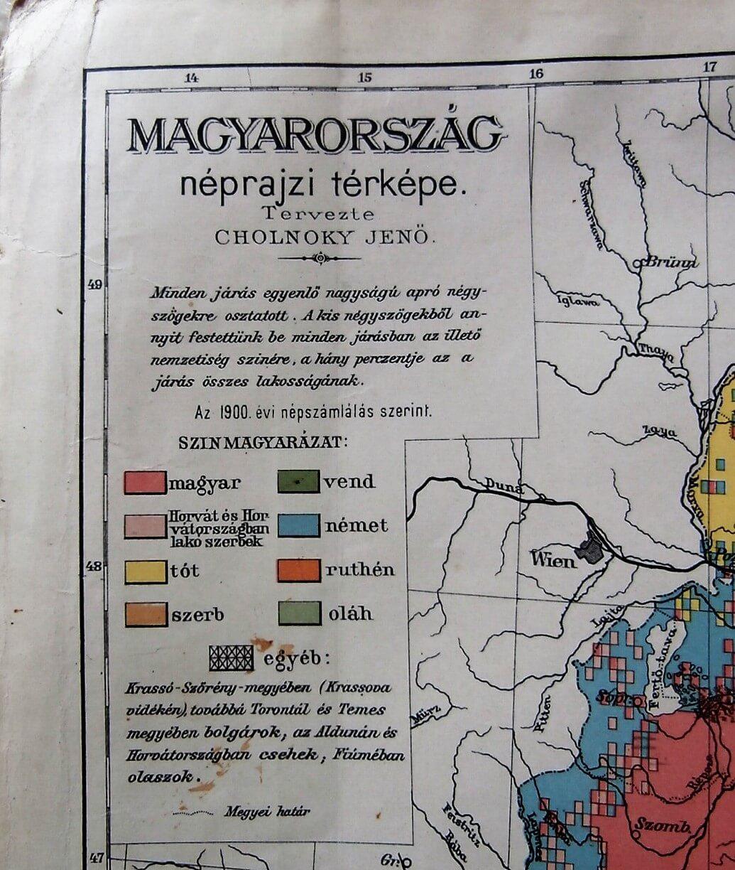 Magyarország Néprajzi Térkép 1900
