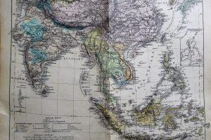 Ostindien Kelet-Ázsia térkép 1900 as évek