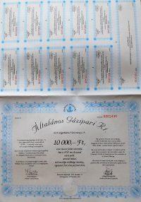 Általános Gázipari RT részvény 1993