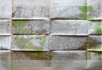 Amersfoort Stabskarte der Niederlande holland régi térkép 1936 katonai jelölésekkel