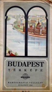 Budapest régi térkép 1958