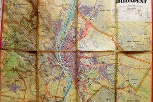 Budapest térkép régi 1934