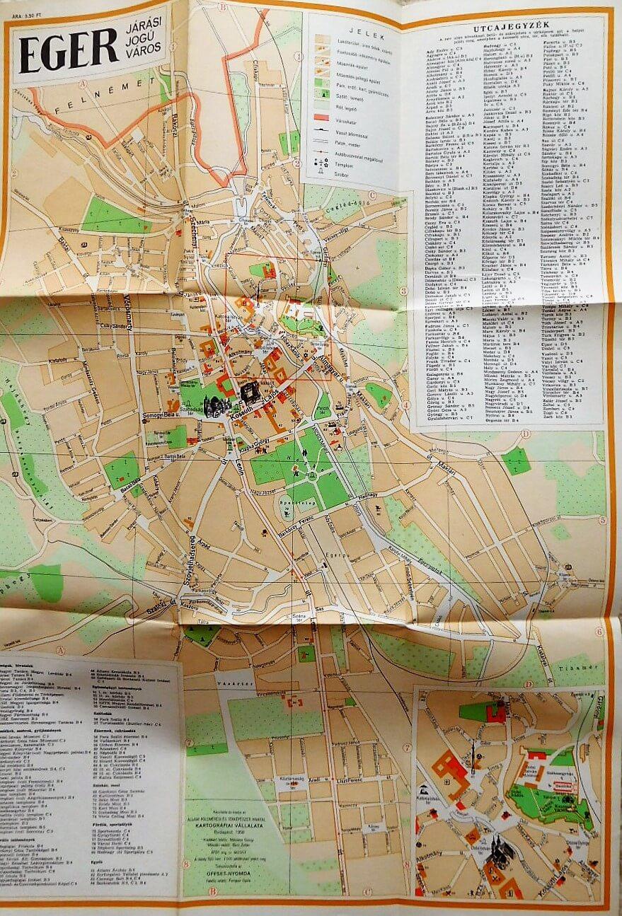 Eger Varos Terkep 1957 Oregpenz