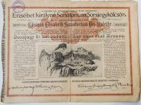 Erzsébet királyné Sanatorium Sorsjegykölcsön 1904
