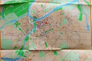 Győr régi térkép 1958