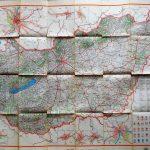 Magyarország Autó régi térkép 1958
