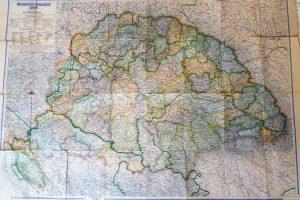 Magyarország Közigazgatási régi Térkép 1900-as évek
