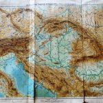 Osztrák Magyar Monarchia hegy és vízrajz régi térkép 1900