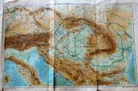 Osztrák Magyar Monarchia hegy és vízrajz régi térkép 1900-as évek