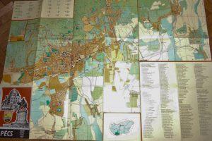 Pécs térkép 1980 és 1989